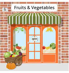 Fruits and vegetables shop vector