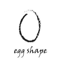 grunge silhouette of egg on white vector image