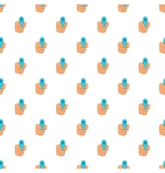 Hand with gun pattern cartoon style vector image