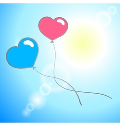 HeartsBackground vector image