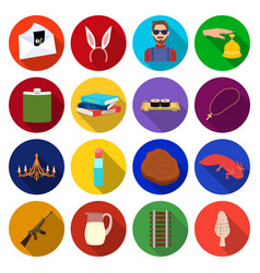 History travel army and other web icon in flat vector
