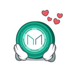 In love maker coin mascot cartoon vector