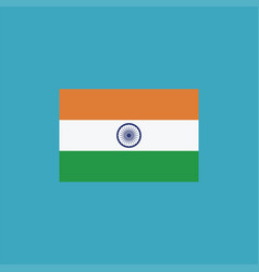 india flag icon in flat design vector image