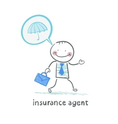 insurance agent insurance agent is thinking about vector image