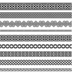 Irish celtic seamless pattern set vector