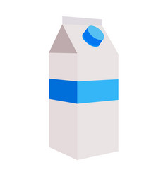 Isolated milk bottle vector
