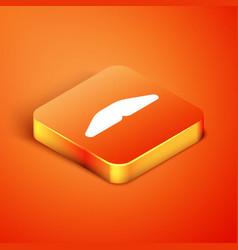 Isometric homemade pie icon isolated on orange vector