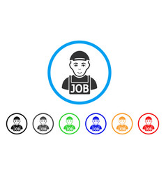 jobless rounded icon vector image