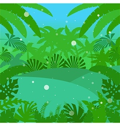 Jungle Flat Background18 vector image