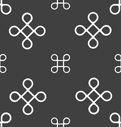 Keyboard maestro icon seamless pattern on a gray vector