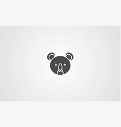 koala icon sign symbol vector image
