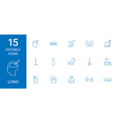 long icons vector image
