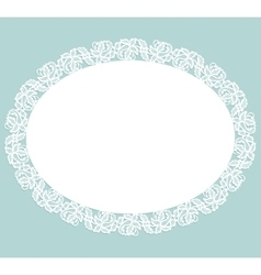 Napkin with lace vector image