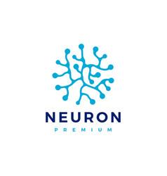 neuron logo icon vector image