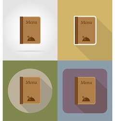 Objects for food flat icons 12 vector