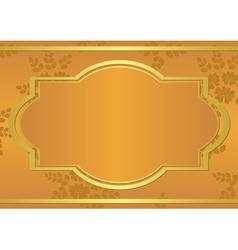 orange card with golden frame vector image