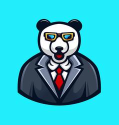 panda wearing glasses vector image