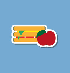 Paper sticker on stylish background sandwich and vector