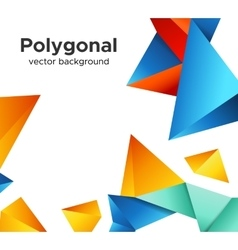 Premium low poly geometric banner design concept vector image vector image