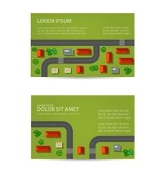 Print rooftops vector image
