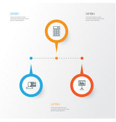 Project icons set collection of presentation vector