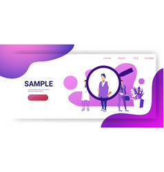 Recruitment magnifying zoom choosing business vector