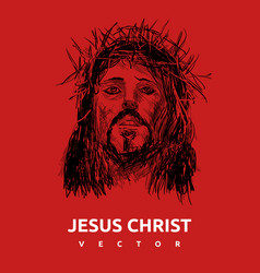 Red jesus christ church logo easter design vector