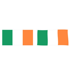 republic ireland roi flag simple and slightly vector image