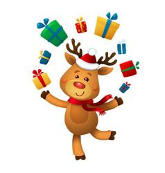 Santas reindeer rudolph of vector