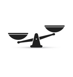 scale icon of weight or justice scales vector image
