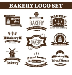 Set bakery logo vector