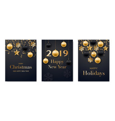 set holidays greeting cards collection of vector image