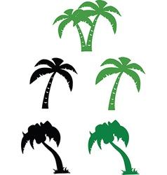 Set of cartoon trees vector
