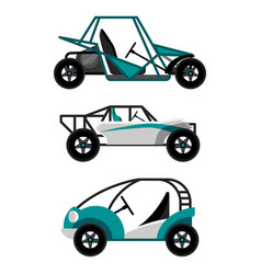 Set of different buggy cars vector