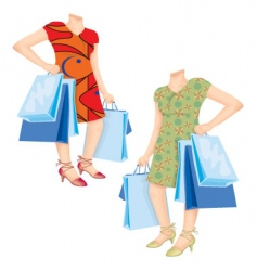 shopaholic template vector image