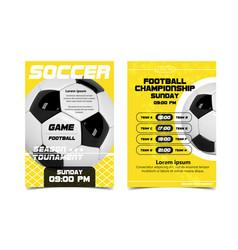 soccer poster design football ball concept vector image