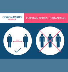 Social distancing 1 meter in public places vector