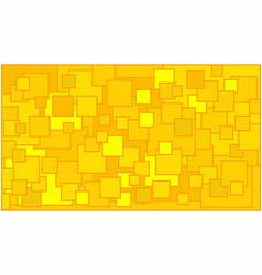 Squares in various shades of yellow background vector