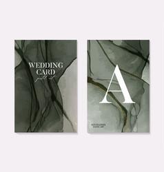 Surfaceliquid flow tender greenery wedding card vector