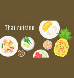 Thai dishes vector