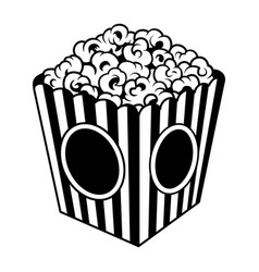 Vintage popcorn bucket box template vector