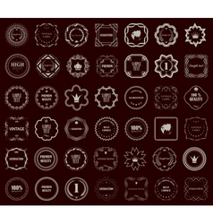 Vintage style retro emblem label collection Design vector