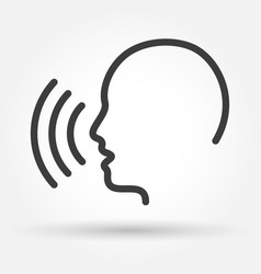 Voice control icon vector
