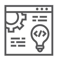 web development line icon website and programming vector image