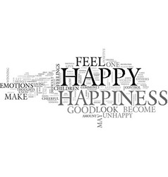 What is happiness can it be defined text word vector