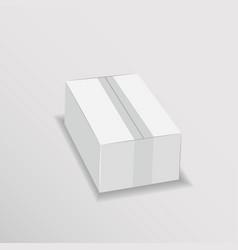 White cardboard lunch box vector
