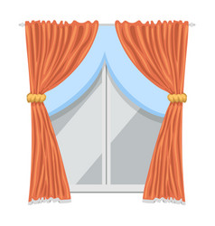 Window curtains and room blinds jalousie for house vector