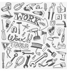 Working tools doodles vector