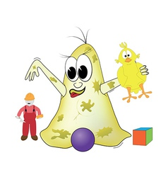 bacteria is playing with toys vector image