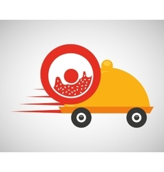 fast delivery food sweet donut vector image